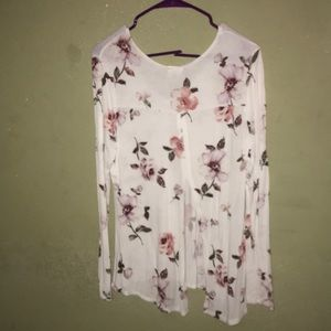 A white flower print shirt